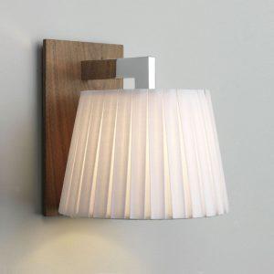 Vägglampa Nola valnöt-0