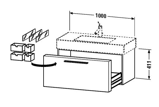Fogo underskåp inkl tvättställ 100 cm-653